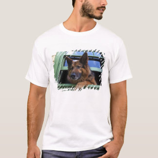 USA, Oregon, Portland. Griff the long-hair T-Shirt