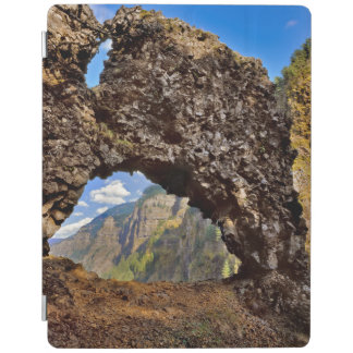USA, Oregon. Rock Of Ages Arch In Columbia River iPad Cover