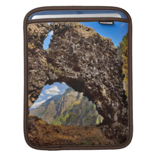 USA, Oregon. Rock Of Ages Arch In Columbia River iPad Sleeve