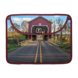 USA, Oregon, Scio, Shimanek Bridge 2 Sleeves For MacBook Pro