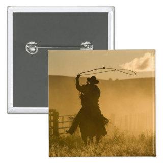 USA, Oregon, Seneca, Ponderosa Ranch. 2 15 Cm Square Badge