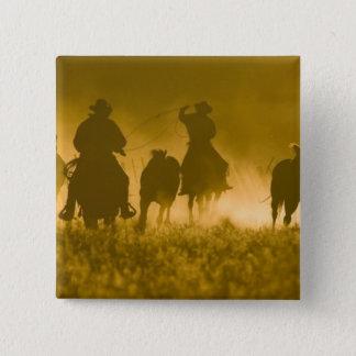 USA, Oregon, Seneca, Ponderosa Ranch. 3 15 Cm Square Badge