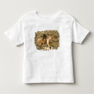 USA, Oregon, Seneca, Ponderosa Ranch. A cowboy Toddler T-Shirt