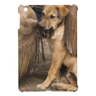 USA, Oregon, Seneca, Ponderosa Ranch. A puppy iPad Mini Covers