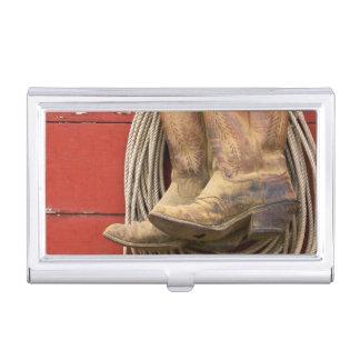 USA, Oregon, Seneca, Ponderosa Ranch. Close-up Business Card Holder