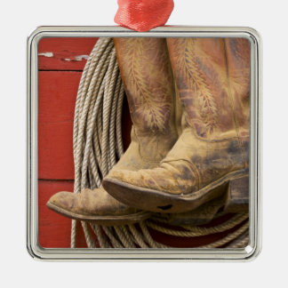 USA, Oregon, Seneca, Ponderosa Ranch. Close-up Christmas Ornament