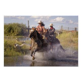 USA, Oregon, Seneca, Ponderosa Ranch. Cowboy 2 Photo Print
