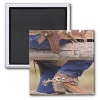 USA, Oregon, Seneca, Ponderosa Ranch. Cowboy Magnet