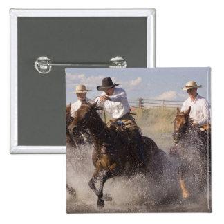 USA, Oregon, Seneca, Ponderosa Ranch. Cowboys 15 Cm Square Badge