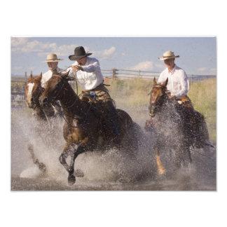 USA, Oregon, Seneca, Ponderosa Ranch. Cowboys Photograph