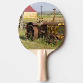 USA, Oregon, Shaniko. Rusty vintage tractor in Ping Pong Paddle