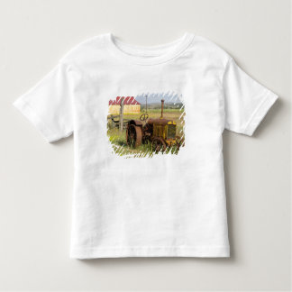 USA, Oregon, Shaniko. Rusty vintage tractor in Shirts