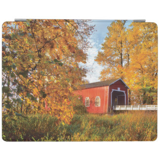 USA, Oregon. Shimanek Covered Bridge In Morning iPad Cover