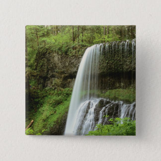 USA, Oregon, Silver Falls State Park. Lower 15 Cm Square Badge