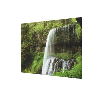 USA, Oregon, Silver Falls State Park. Lower Stretched Canvas Print