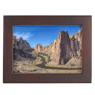 USA, Oregon, Smith Rock State Park Keepsake Box