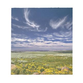 USA, Oregon, Steens Mountain. Spring burgeons Notepad