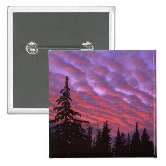 USA, Oregon, Three Sisters Wilderness, Vivid 15 Cm Square Badge