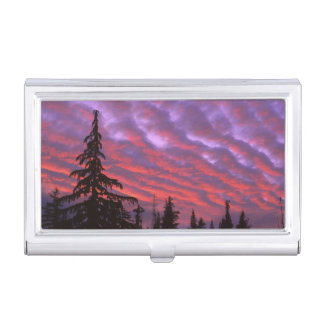 USA, Oregon, Three Sisters Wilderness, Vivid Business Card Holder