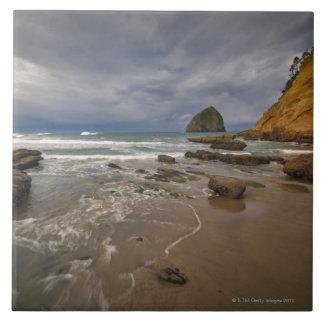 USA, Oregon, Tillmook County, Beach with Tile