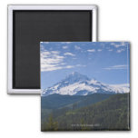 USA, Oregon, View of Mount Hood Square Magnet