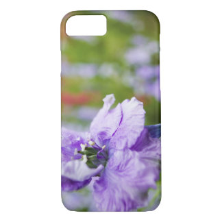 USA, Oregon, Willamette Valley, Larkspur Close 3 iPhone 8/7 Case