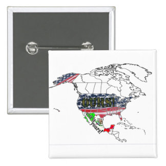 USA OURS - MEXICO YOURS! 15 CM SQUARE BADGE