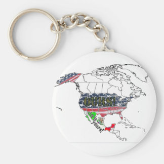 USA OURS - MEXICO YOURS! BASIC ROUND BUTTON KEY RING
