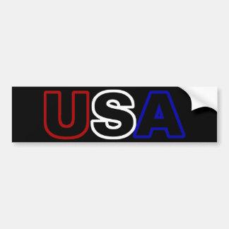 USA Outline Bumper Stickers