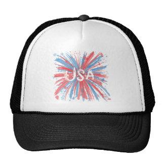 USA Paint Splatter Hat