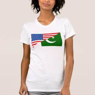usa Pakistan country half flag america symbol T-Shirt