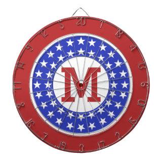 USA Patriot Custom Monogram dart board