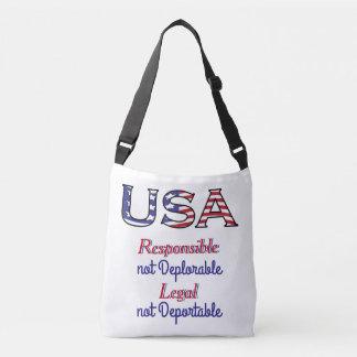 USA Patriot Not Deplorable Crossbody Bag