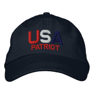USA Patriot Red White Blue Embroidered Navy Hat Embroidered Baseball Caps
