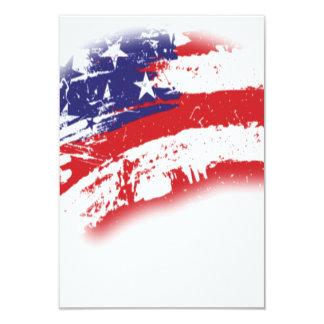 USA Patriotic American Flag Abstract Distressed 9 Cm X 13 Cm Invitation Card