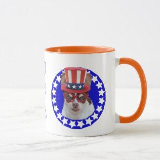 USA Patriotic Chihuahua dog mug