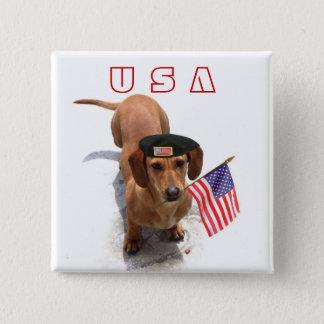 USA Patriotic dachshund button