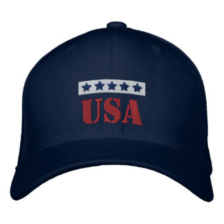 USA Patriotic Embroidered Hat
