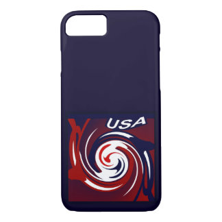 USA Patriotic Iphone Case on Red, White, Blue