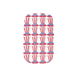 USA Patriotic Love Uncle Sam American Flag Nails Nails Sticker