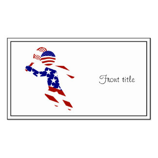 USA Patriotic Men's Tennis Player Double-Sided Standard Business Cards (Pack Of 100)