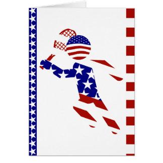 USA Patriotic Men's Tennis Player Greeting Card