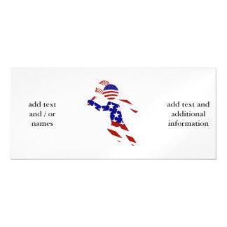USA Patriotic Men's Tennis Player Magnetic Invitations