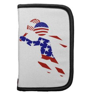USA Patriotic Men's Tennis Player Organizer