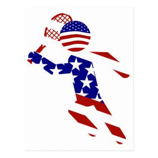 USA Patriotic Men's Tennis Player Postcard