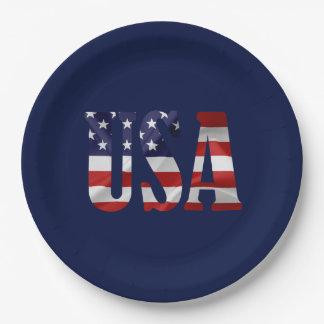 USA Patriotic Paper Plate