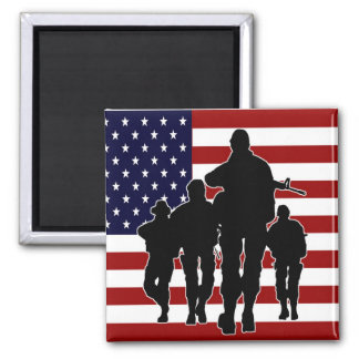 USA Patriotic Square Magnet