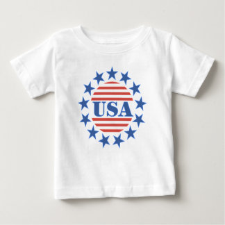 USA Patriotic Stars and Stripes Baby T-Shirt