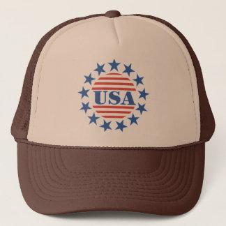 USA Patriotic Stars and Stripes Trucker Hat