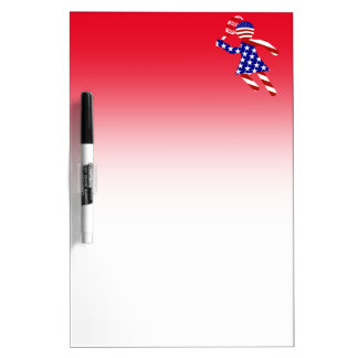 USA Patriotic Womens Tennis Player Dry-Erase Board